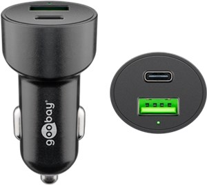 Dual-USB Auto Fast Charger USB-C™ PD (Power Delivery)