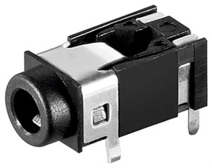 Jack chassis socket - 3.5 mm - stereo