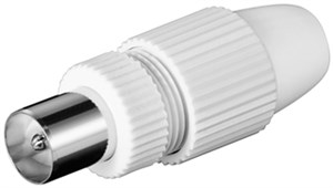 Coaxial plug screw-less quick fastening