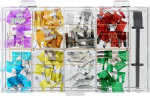 Car blade fuse assortment; 101 pcs.