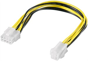 ATX12 P4 PC power cable/adapter; 4-pin to 8-pin