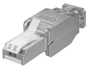 Tool-free RJ45 network connector CAT 6 STP shielded