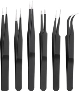 Tweezers set 6 pieces