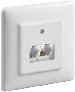 Twin ISDN Flush mount (2x8)
