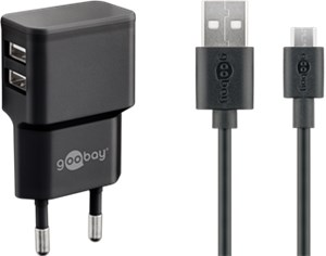 Dual Micro USB charger set 2.4 A