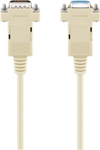 D-SUB 9-pin extension cable; male/female; serial 1:1