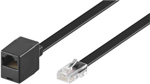 Modular Telephone extension cable 8 pin