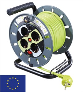 Case reel with cable routing 25 m