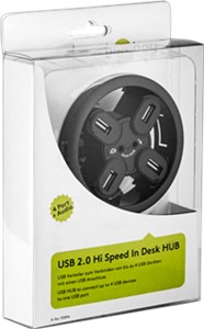 4 port USB 2.0 Hi Speed In-Desk HUB + audio