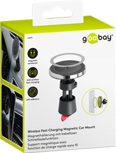 Wireless Fast Charging Magnetic Car Mount 10 W (black)