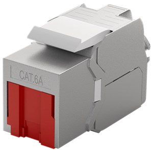 Keystone RJ45 module CAT 6A, STP, with shutter