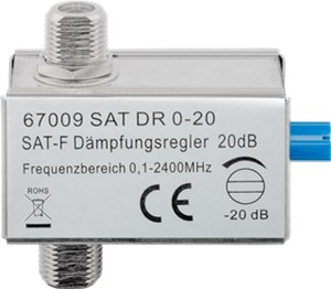 Adjustable attenuator 0 dB - 20 dB
