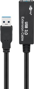 Active USB 3.0 extension cable, Black