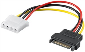 PC power cable/adapter; SATA female to 5.25 inch female
