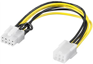 Power cable/adapter for PC graphics card; PCI-E/PCI Express; 6-pin to 8-pin