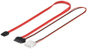 HDD S-ATA SlimLine cable 1.5 GBits / 3 Gbits 2in1