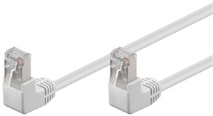 CAT 5e patchcable 2x 90°angled, F/UTP, white