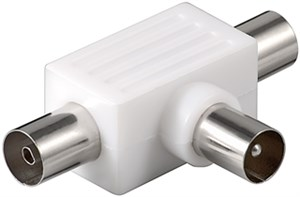Coaxial T-Adapter: 2 Coaxial female > Coaxial male