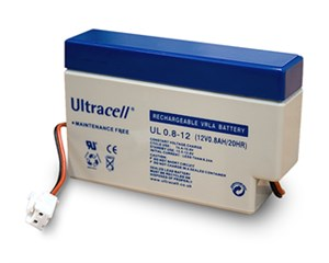 Lead acid battery 12 V, 0,8 Ah (UL0.8-12)