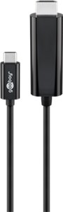 USB-C™ HDMI adapter cable (4k 60 Hz), 1.80 m, black