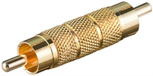 RCA adapter; male to male; gold version