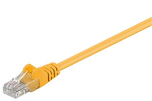 CAT 5e patch cable, U/UTP, yellow